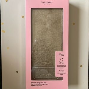 kate spade iPhone XS Max Magnetic Wrap Folio Case